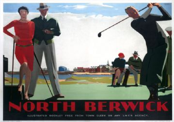 North Berwick, East Lothian, Golf. LNER Vintage Travel Poster by Andrew Johnson